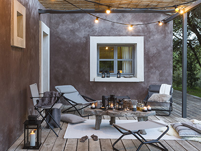 How to set up an outdoor terrace?